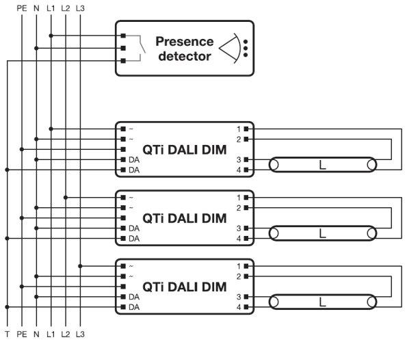 t12ho ballast wiring diagram quicktronic intelligent dali dim t8 | osram #11